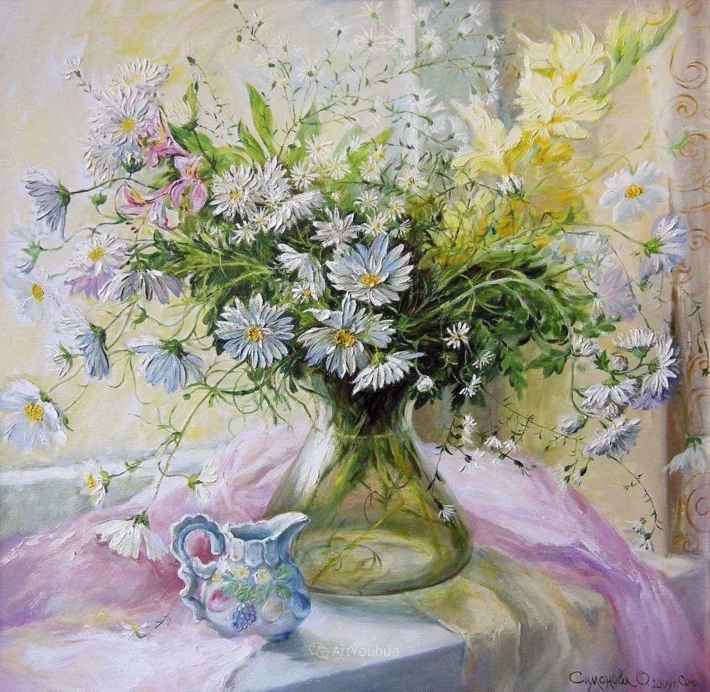 静物花卉与风景,俄罗斯艺术家Simonova Olga Georgievna插图9