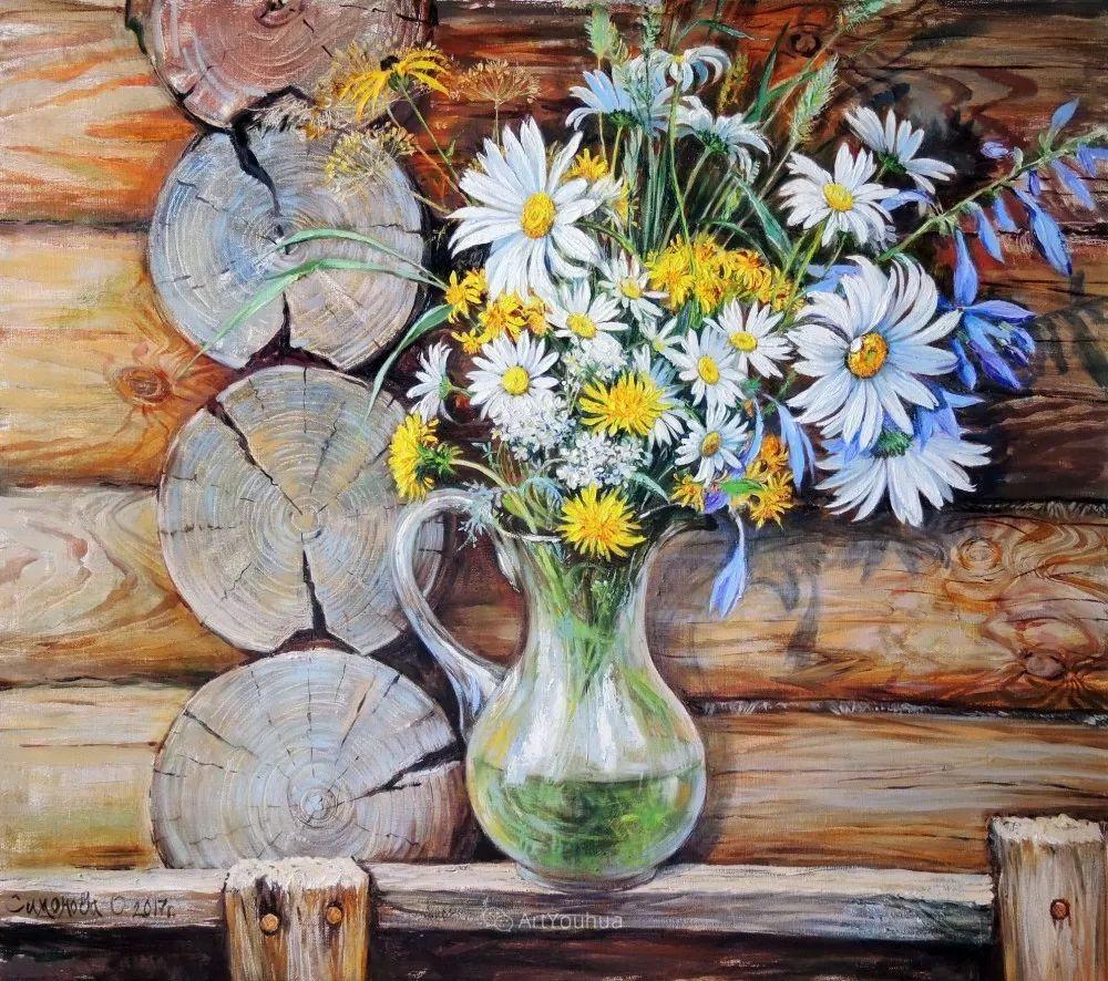 静物花卉与风景,俄罗斯艺术家Simonova Olga Georgievna插图10
