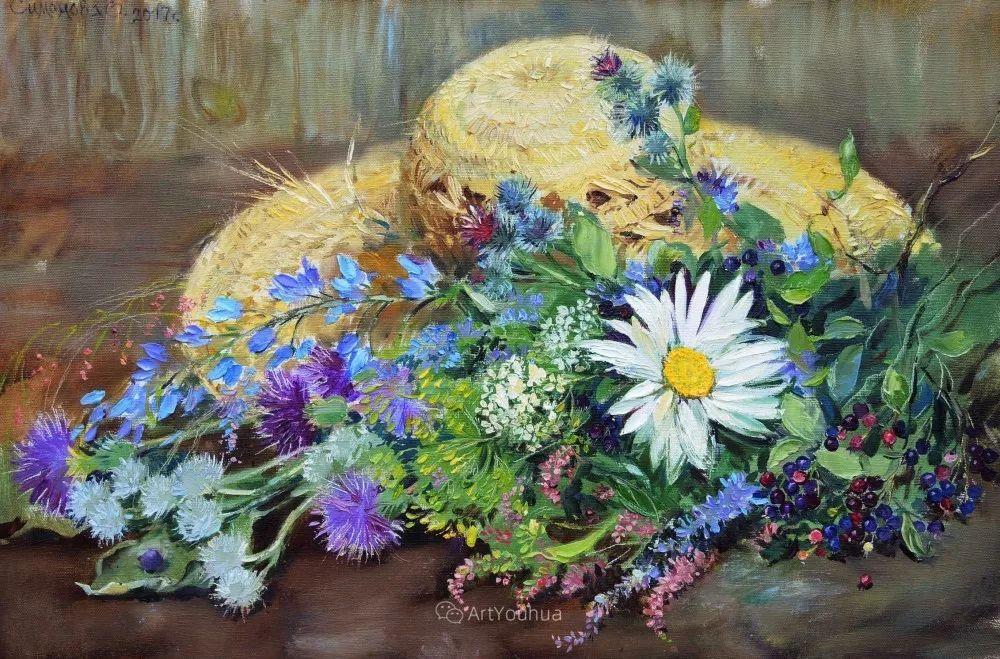 静物花卉与风景,俄罗斯艺术家Simonova Olga Georgievna插图11