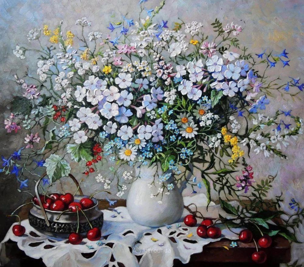 静物花卉与风景,俄罗斯艺术家Simonova Olga Georgievna插图12