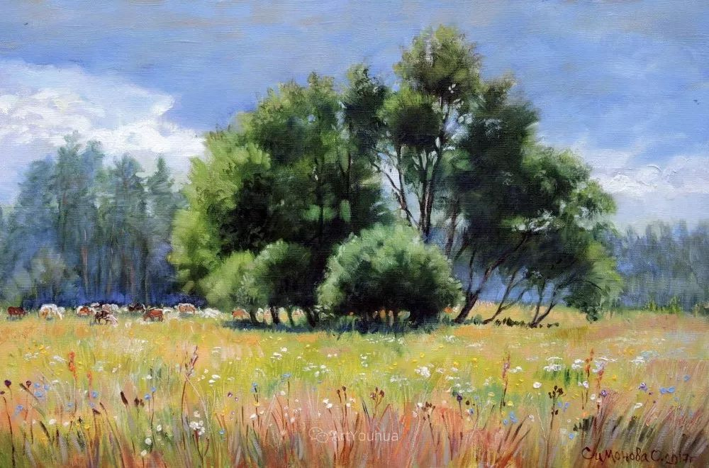 静物花卉与风景,俄罗斯艺术家Simonova Olga Georgievna插图18