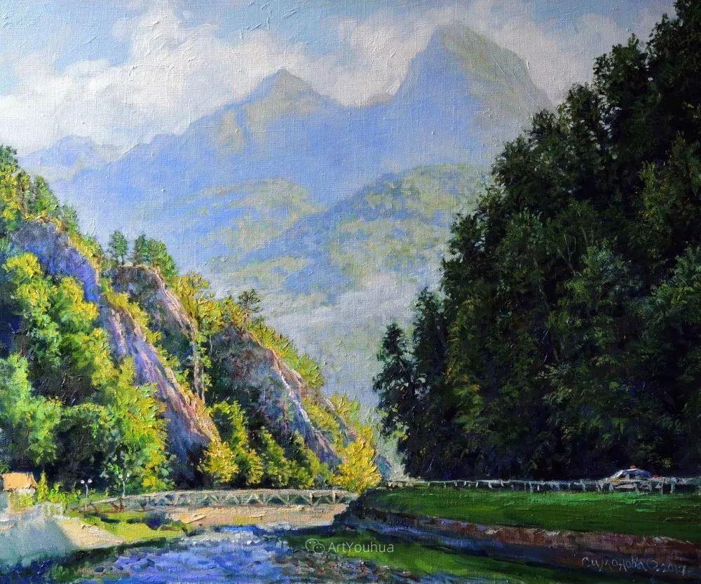 静物花卉与风景,俄罗斯艺术家Simonova Olga Georgievna插图21