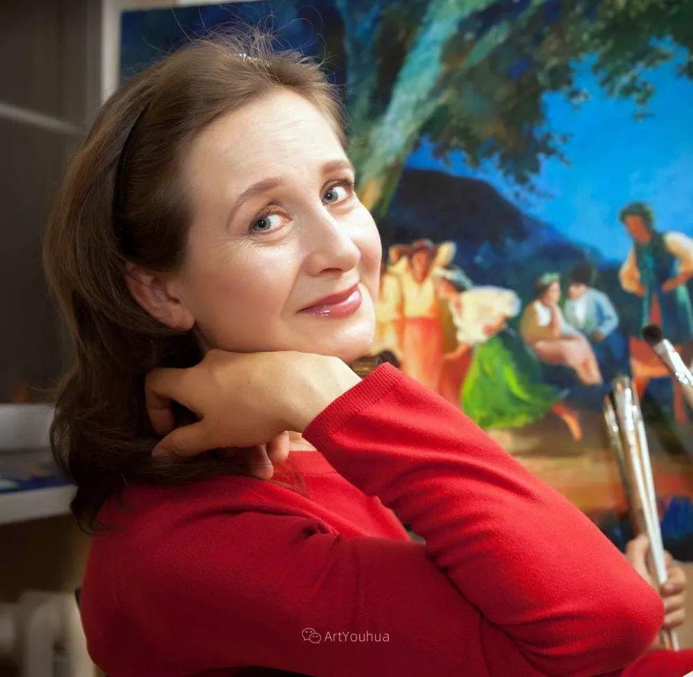 静物花卉与风景,俄罗斯艺术家Simonova Olga Georgievna插图30