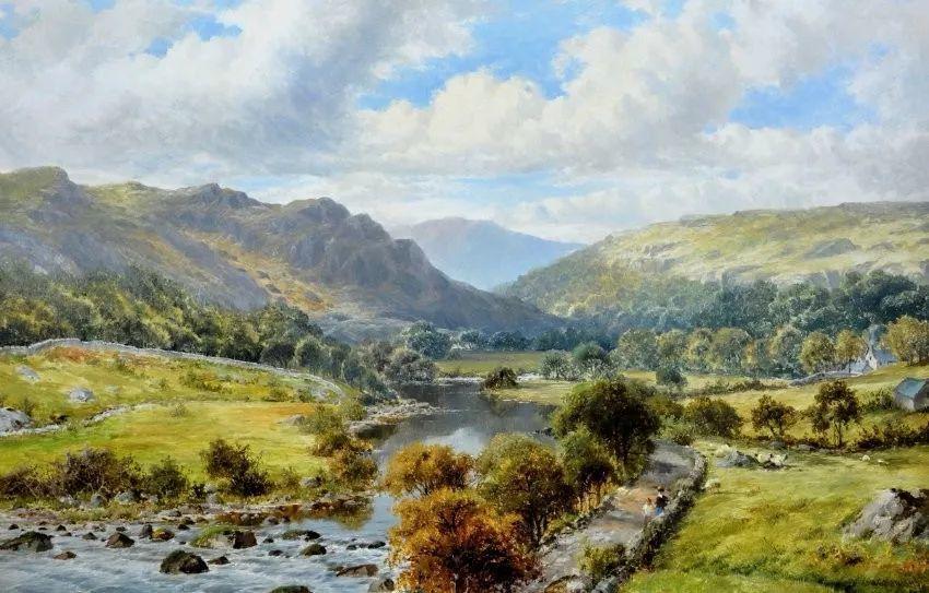 特别吸引人的自然主义风格,英国艺术家William Henry Mander插图
