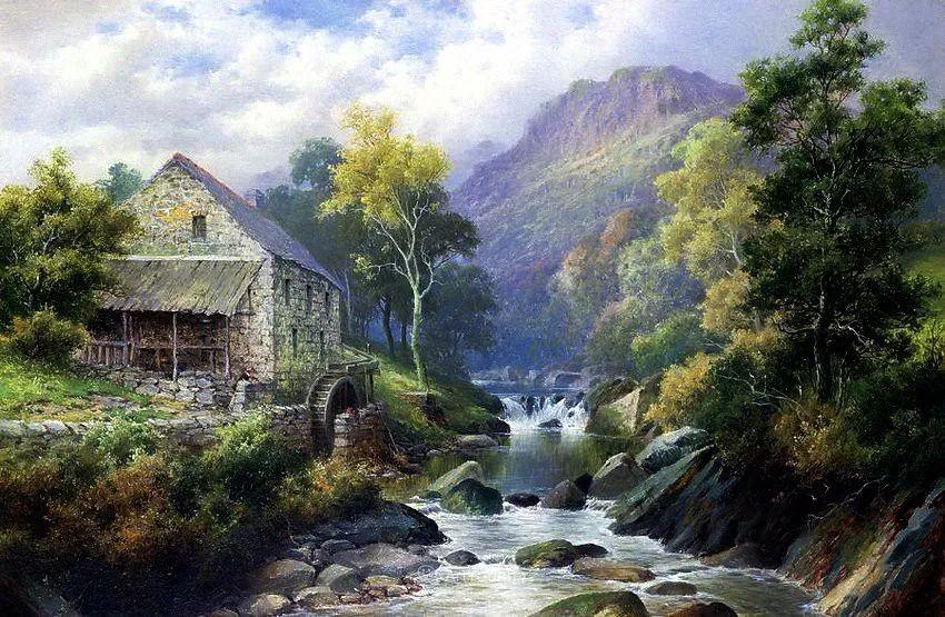 特别吸引人的自然主义风格,英国艺术家William Henry Mander插图1