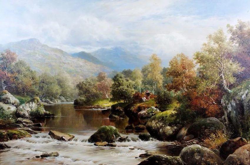特别吸引人的自然主义风格,英国艺术家William Henry Mander插图2