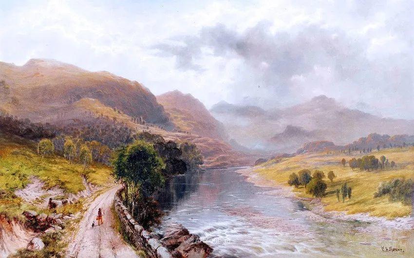 特别吸引人的自然主义风格,英国艺术家William Henry Mander插图4