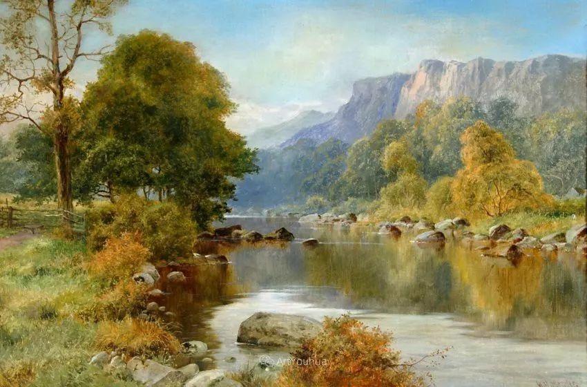 特别吸引人的自然主义风格,英国艺术家William Henry Mander插图6