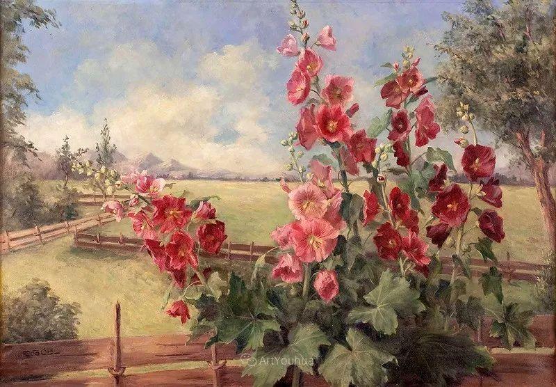 很棒的静物花卉,奥地利画家Camilla Göbl-Wahl插图2