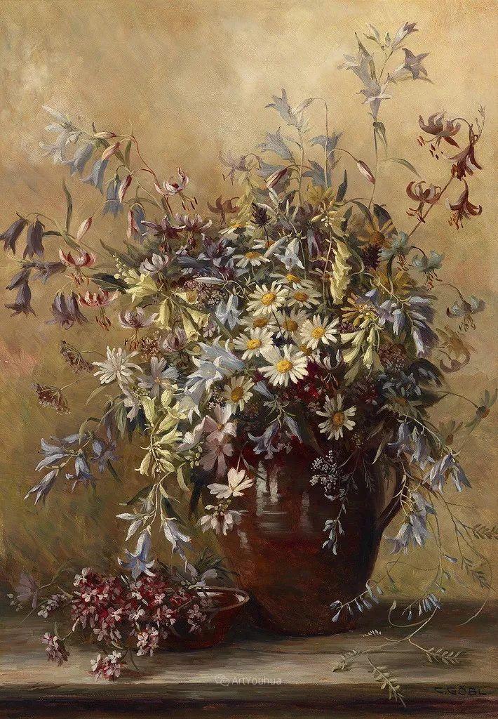 很棒的静物花卉,奥地利画家Camilla Göbl-Wahl插图3