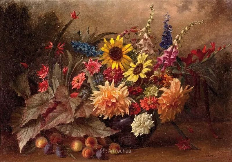 很棒的静物花卉,奥地利画家Camilla Göbl-Wahl插图6