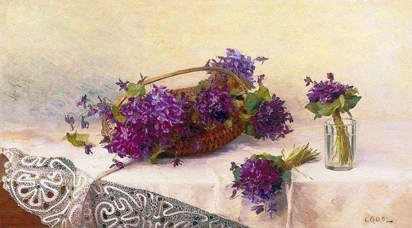 很棒的静物花卉,奥地利画家Camilla Göbl-Wahl插图10