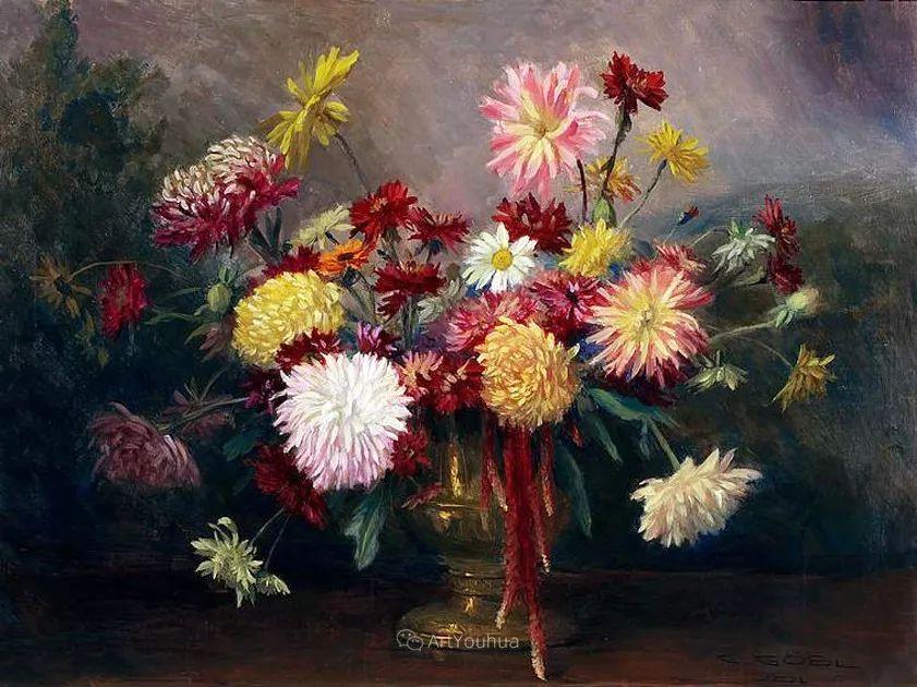 很棒的静物花卉,奥地利画家Camilla Göbl-Wahl插图12