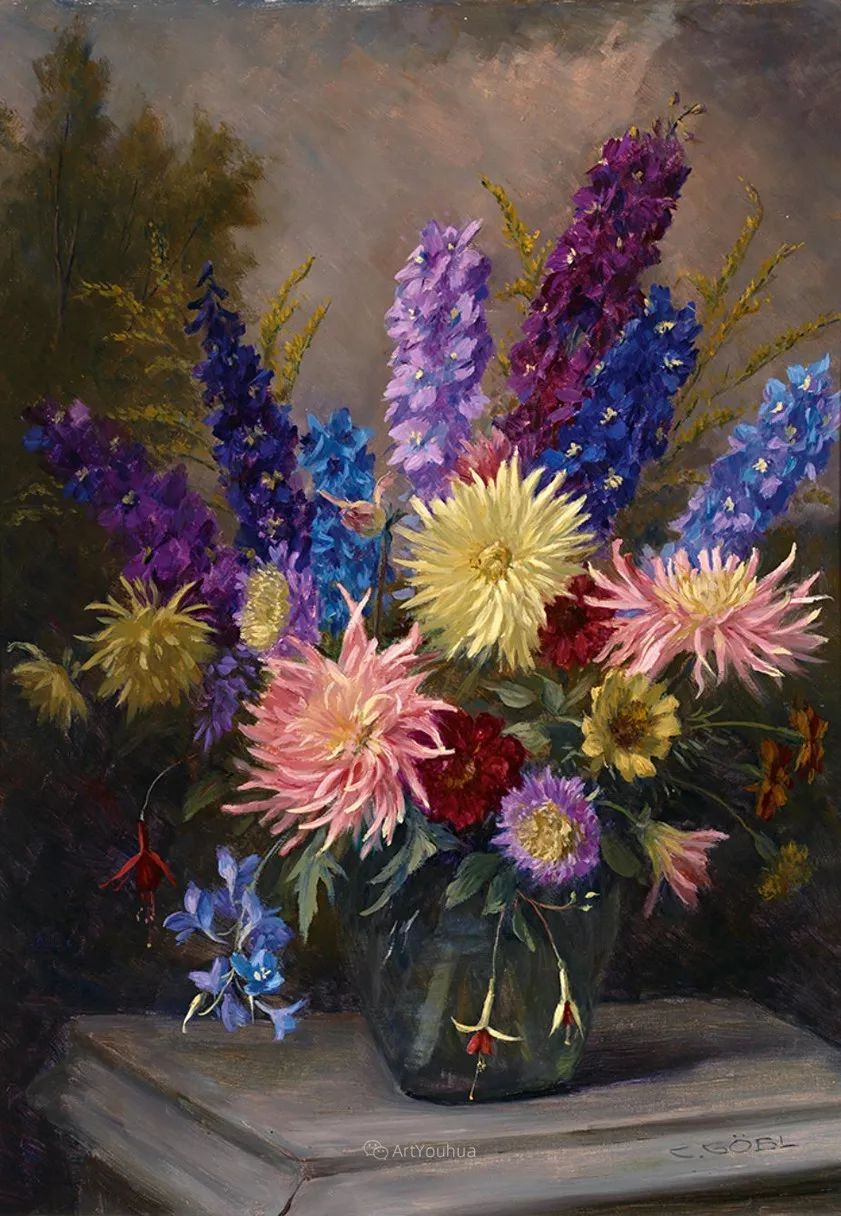很棒的静物花卉,奥地利画家Camilla Göbl-Wahl插图15