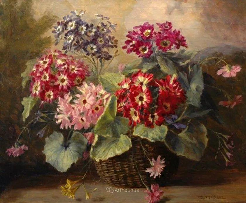 很棒的静物花卉,奥地利画家Camilla Göbl-Wahl插图16