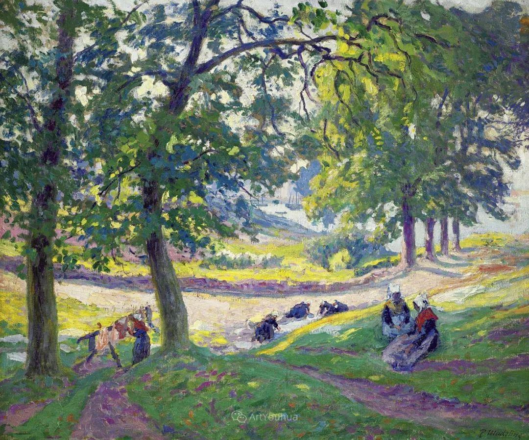 迷人的乡村风景,法国后印象派画家Paul Madeline插图3