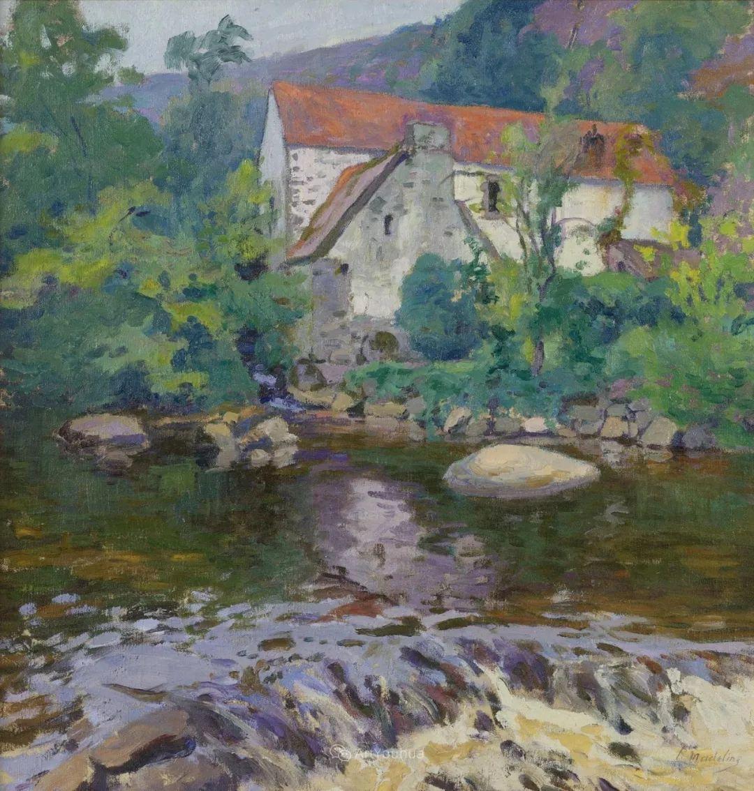 迷人的乡村风景,法国后印象派画家Paul Madeline插图5