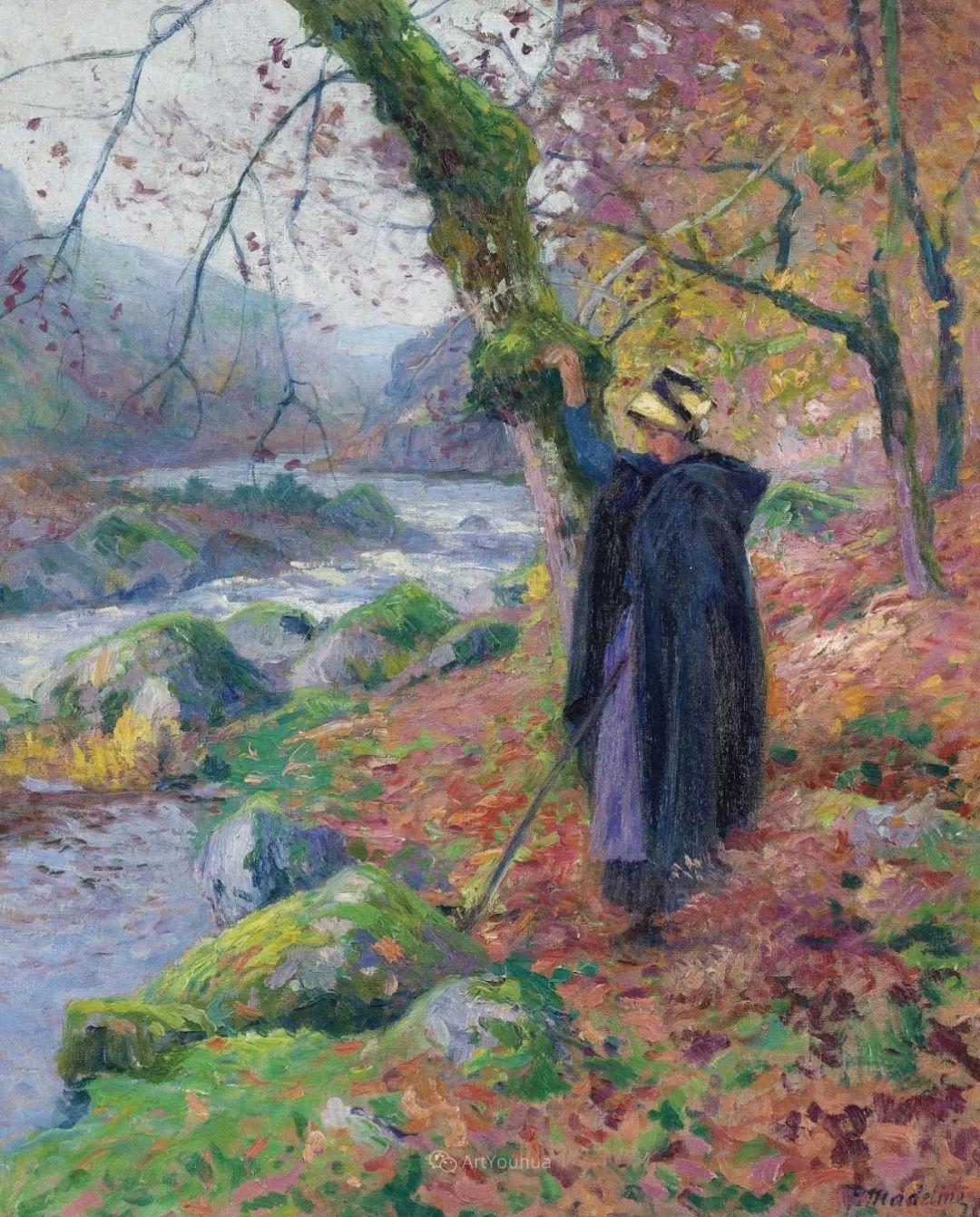 迷人的乡村风景,法国后印象派画家Paul Madeline插图6