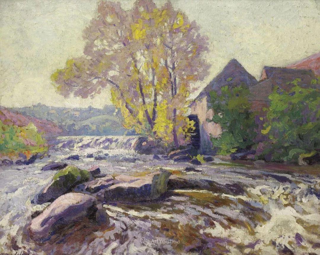 迷人的乡村风景,法国后印象派画家Paul Madeline插图13
