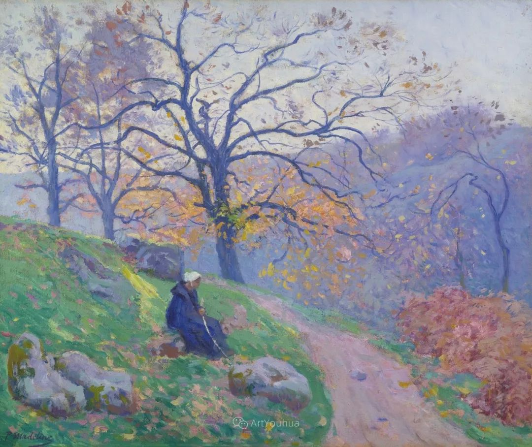 迷人的乡村风景,法国后印象派画家Paul Madeline插图15