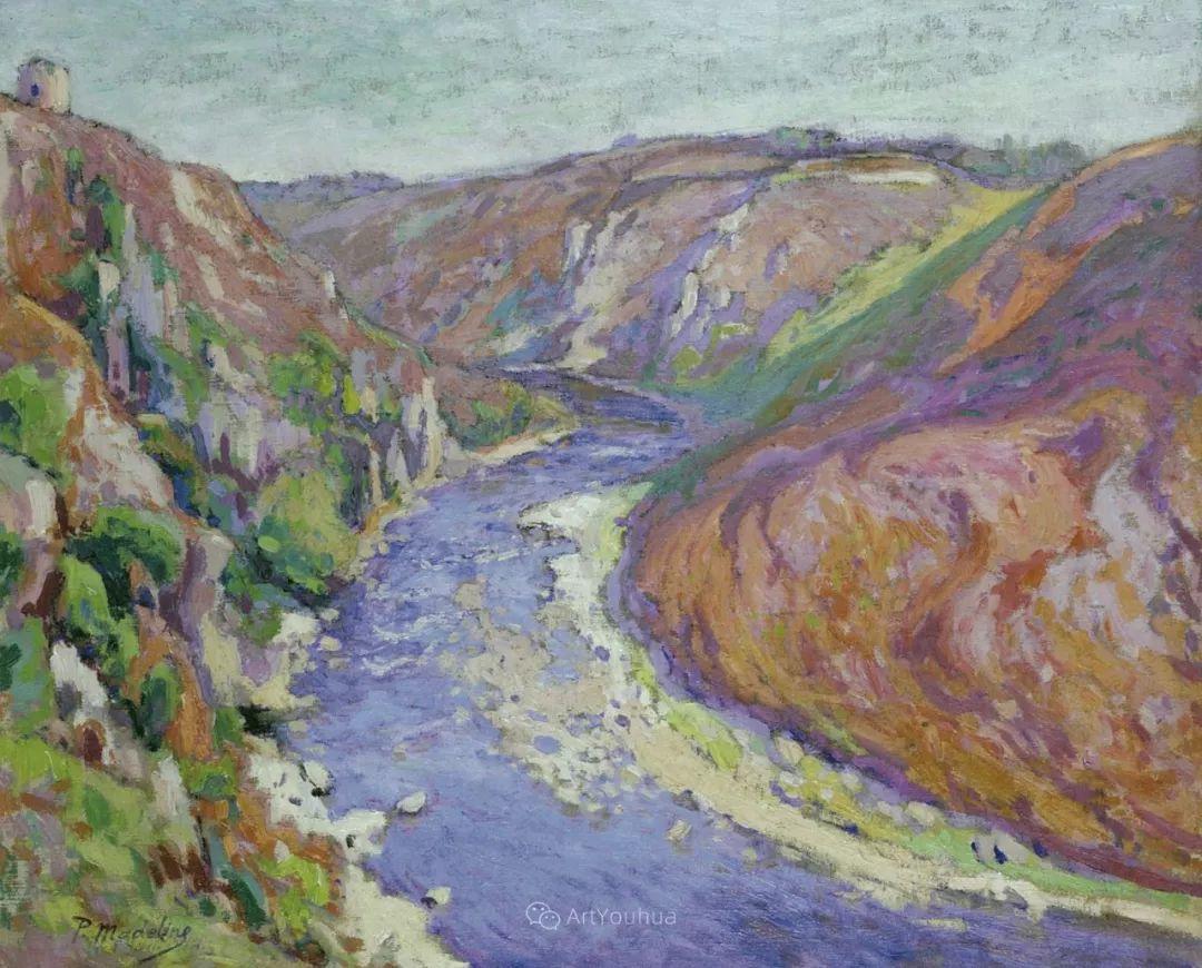 迷人的乡村风景,法国后印象派画家Paul Madeline插图16