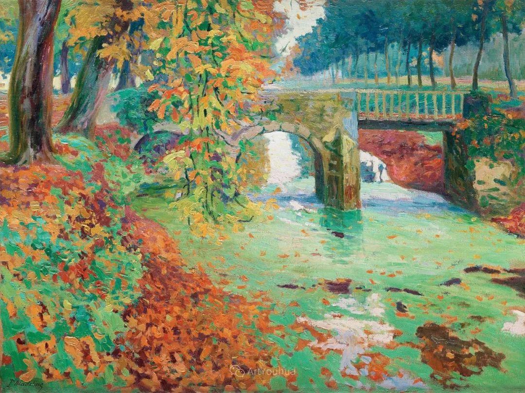 迷人的乡村风景,法国后印象派画家Paul Madeline插图18