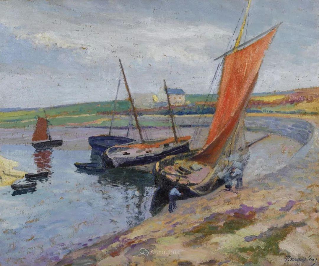 迷人的乡村风景,法国后印象派画家Paul Madeline插图19
