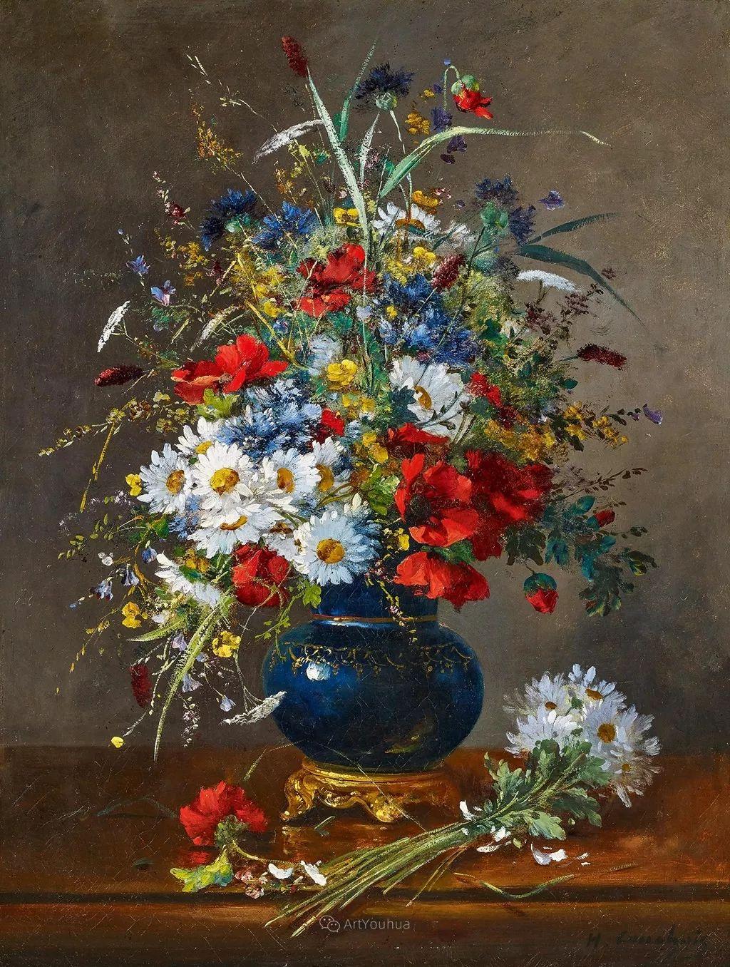花卉的绽放之美,法国艺术家Eugene Henri Cauchois插图3