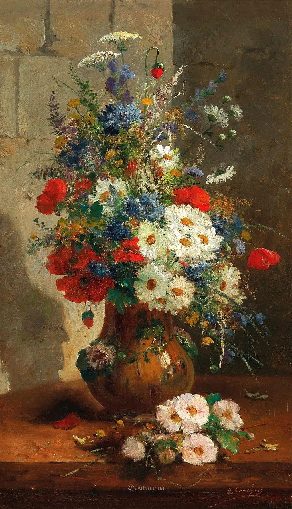 花卉的绽放之美,法国艺术家Eugene Henri Cauchois插图5