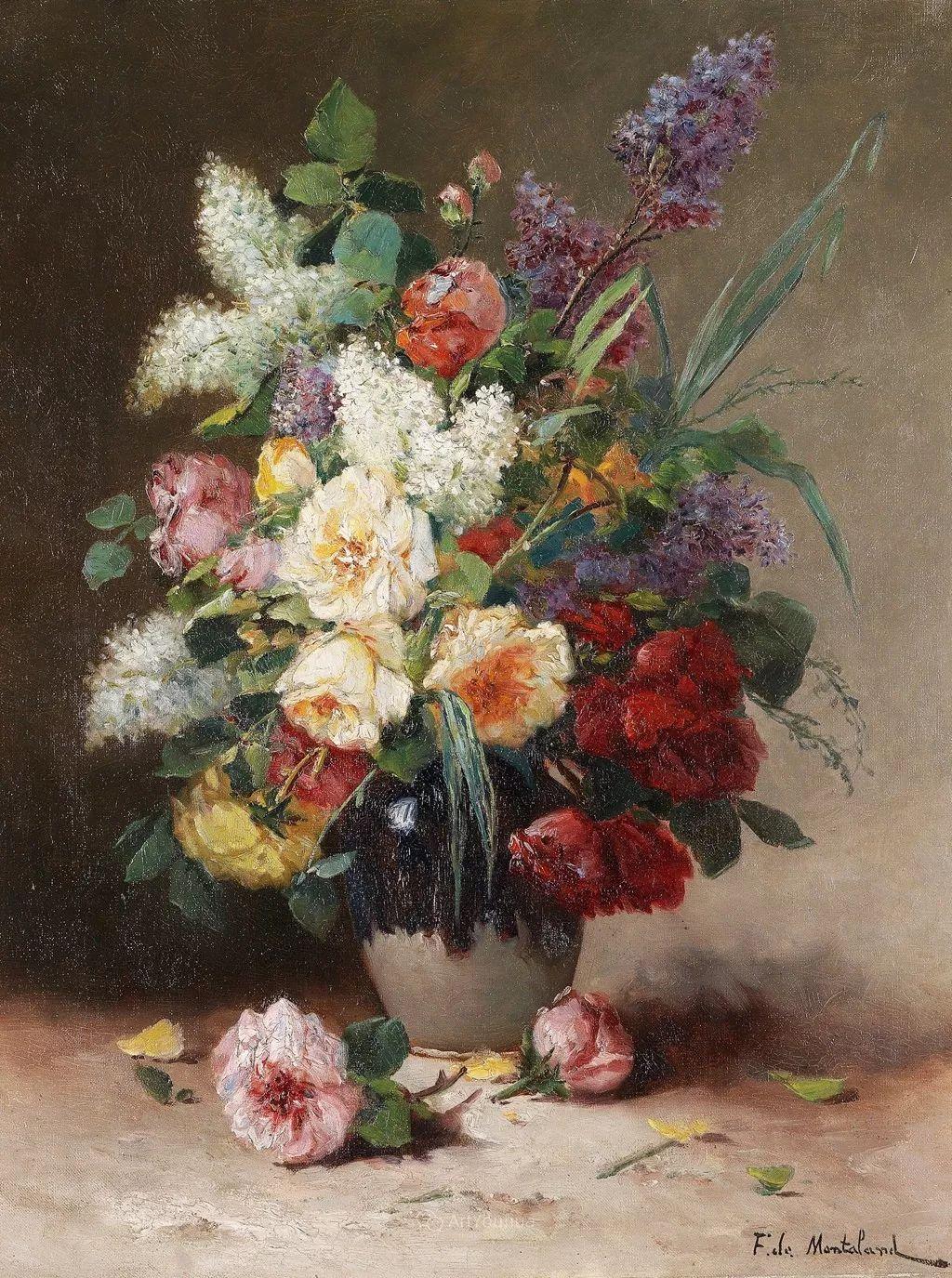 花卉的绽放之美,法国艺术家Eugene Henri Cauchois插图7