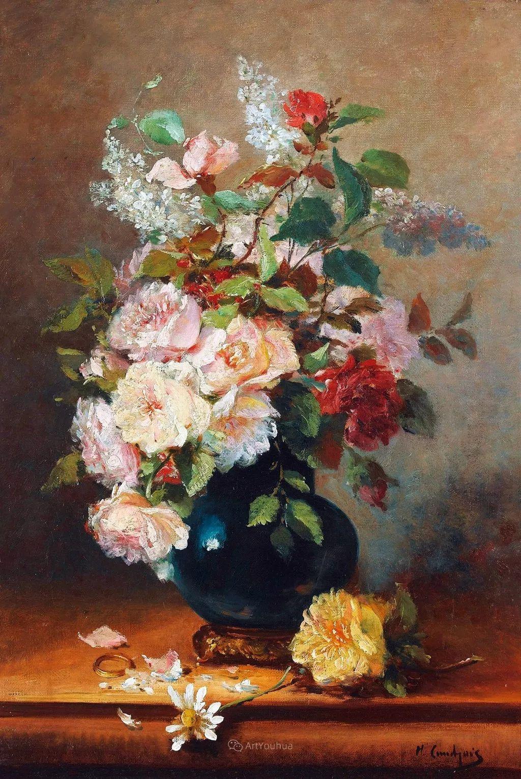 花卉的绽放之美,法国艺术家Eugene Henri Cauchois插图9