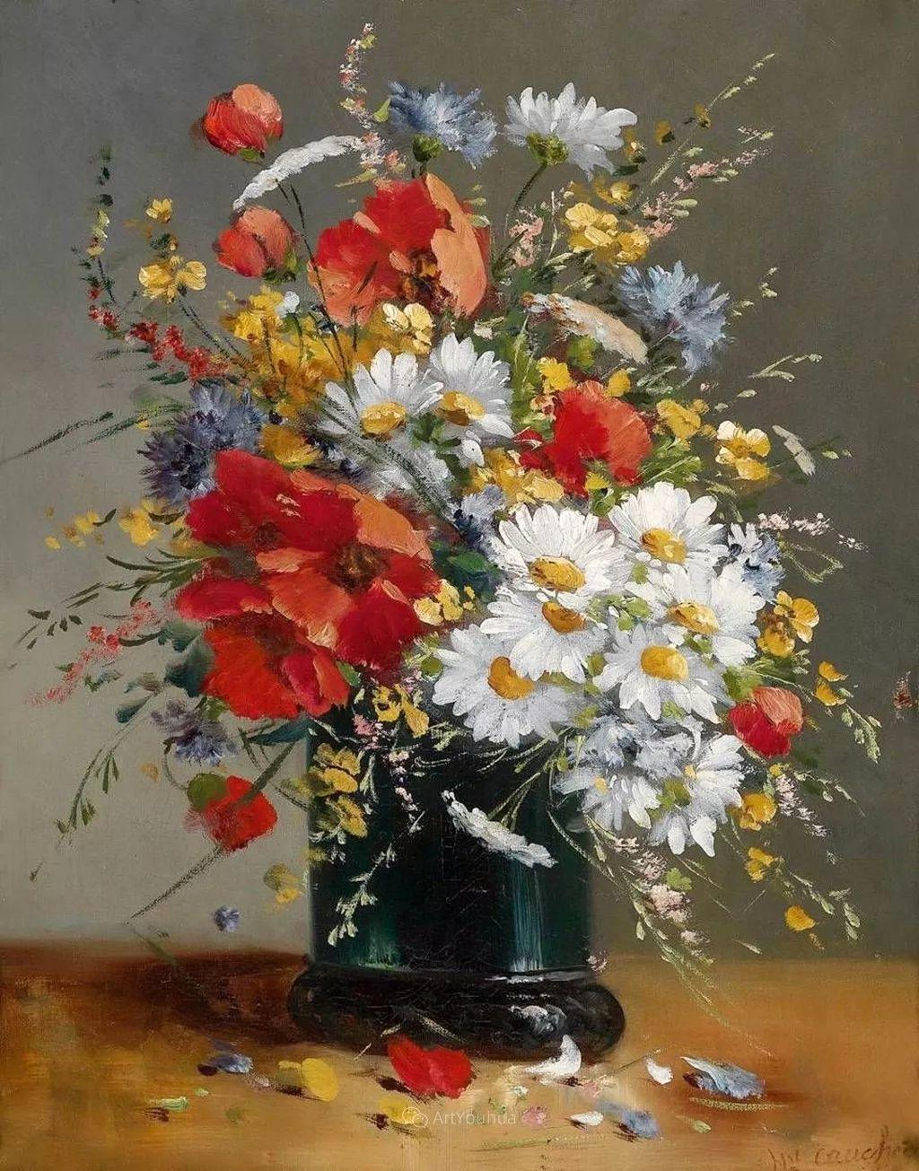 花卉的绽放之美,法国艺术家Eugene Henri Cauchois插图11