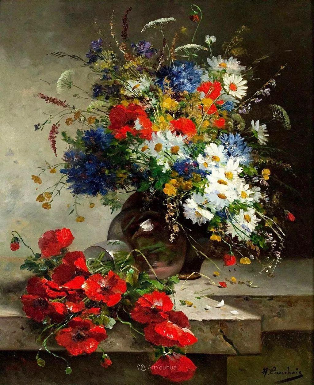 花卉的绽放之美,法国艺术家Eugene Henri Cauchois插图13