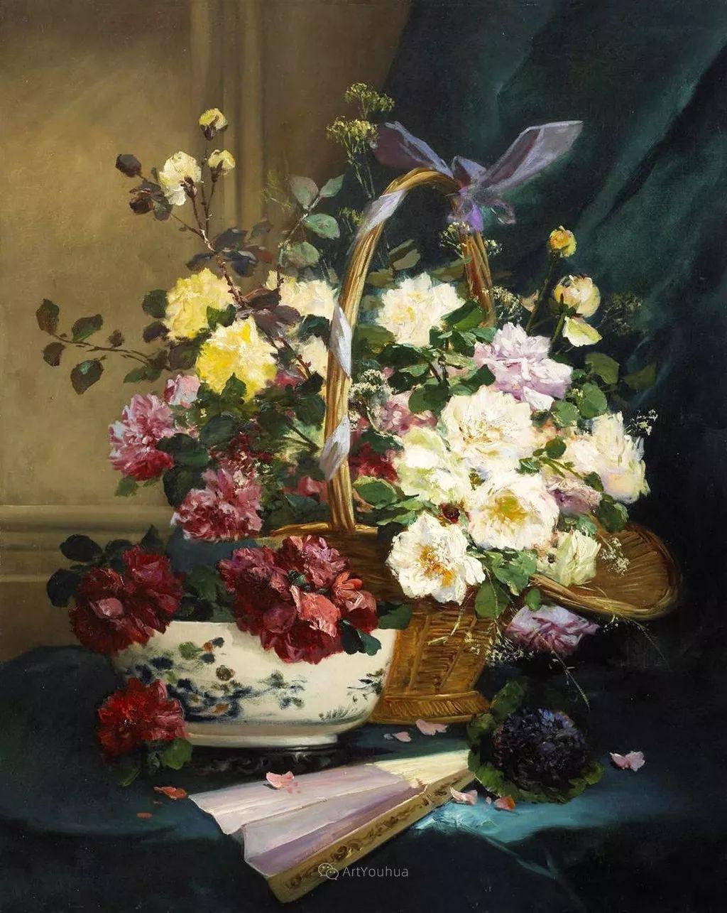 花卉的绽放之美,法国艺术家Eugene Henri Cauchois插图15