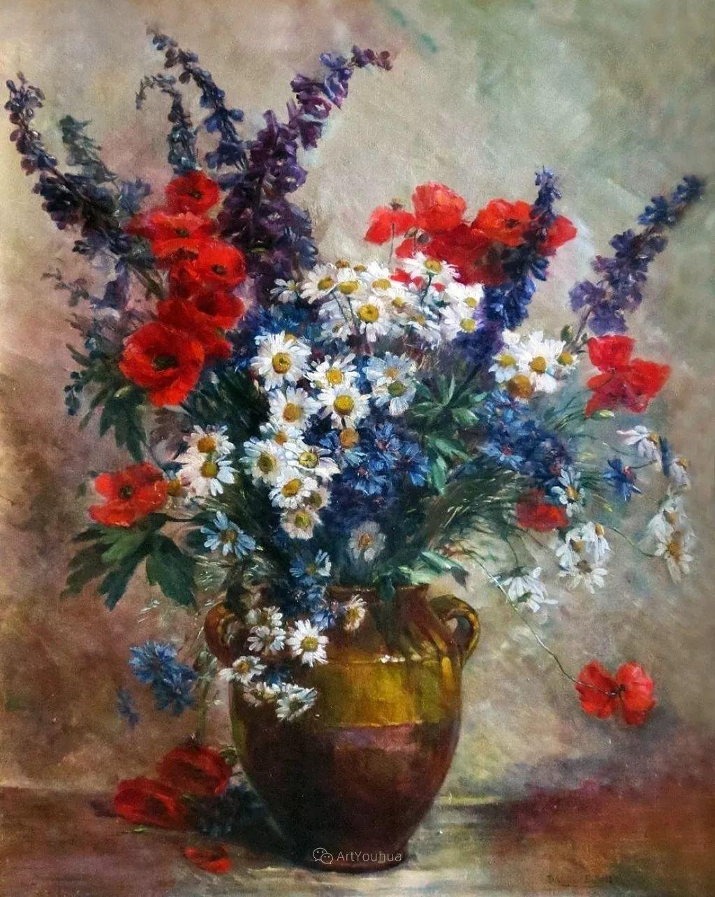 花卉的绽放之美,法国艺术家Eugene Henri Cauchois插图23