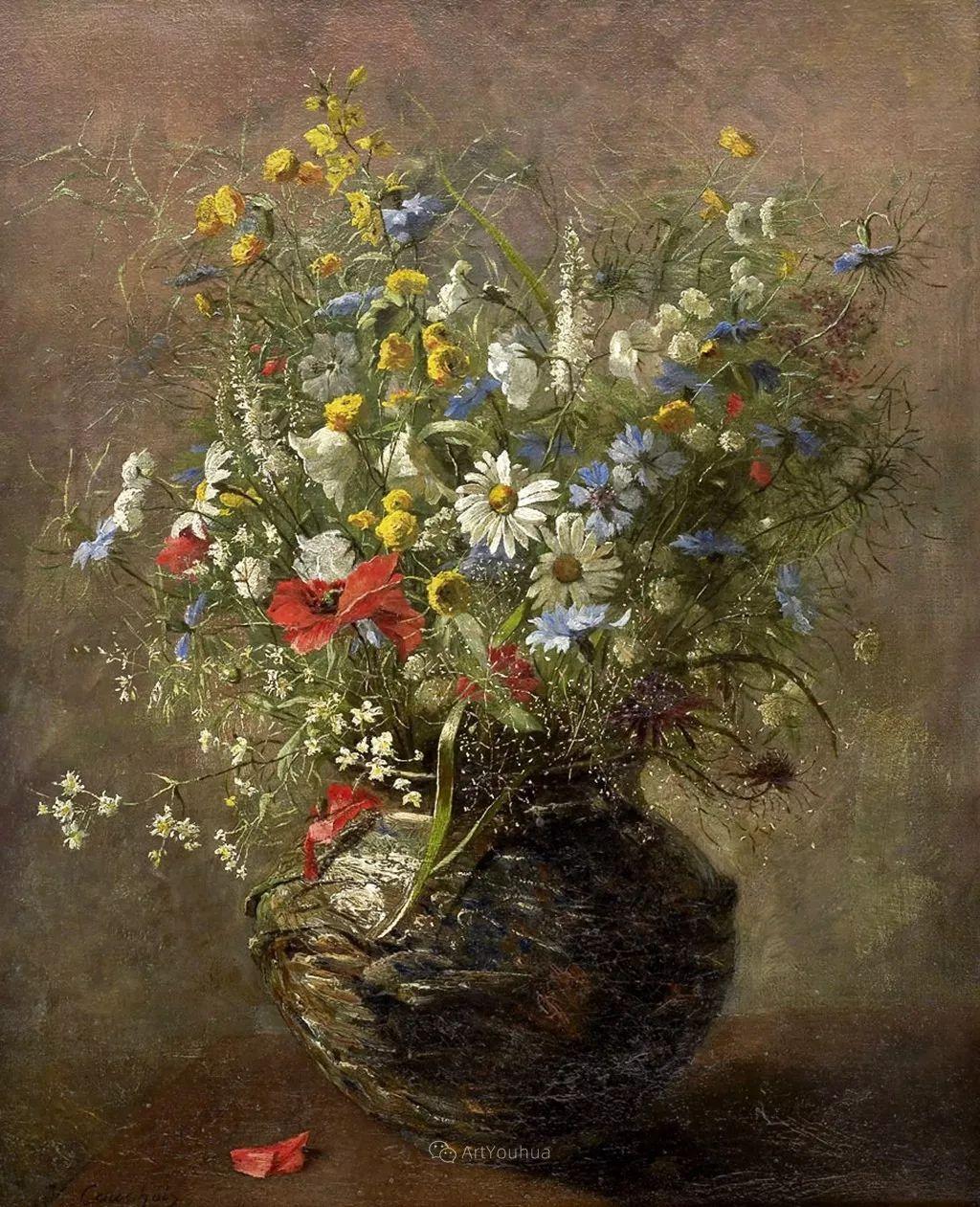 花卉的绽放之美,法国艺术家Eugene Henri Cauchois插图25