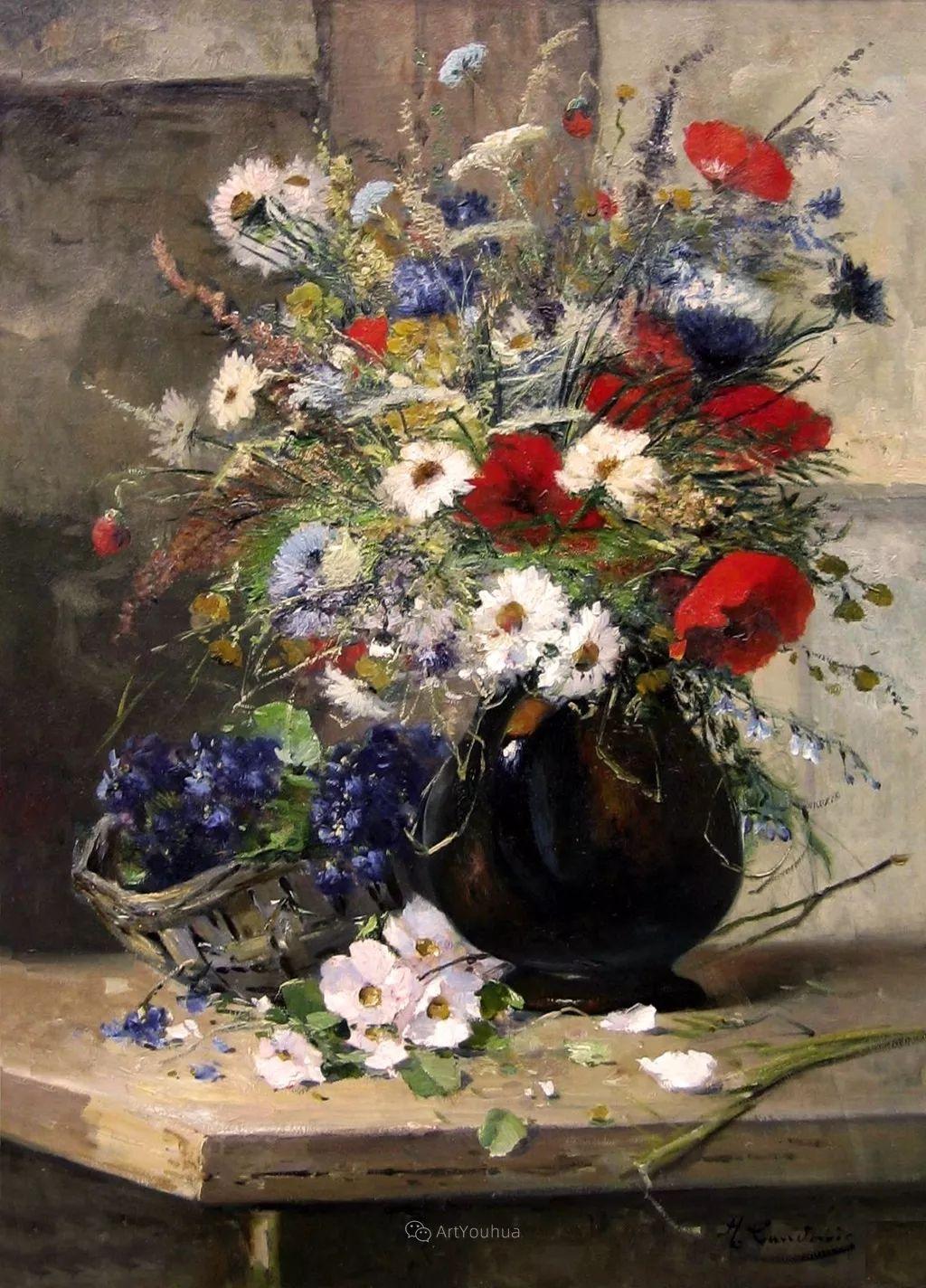 花卉的绽放之美,法国艺术家Eugene Henri Cauchois插图27