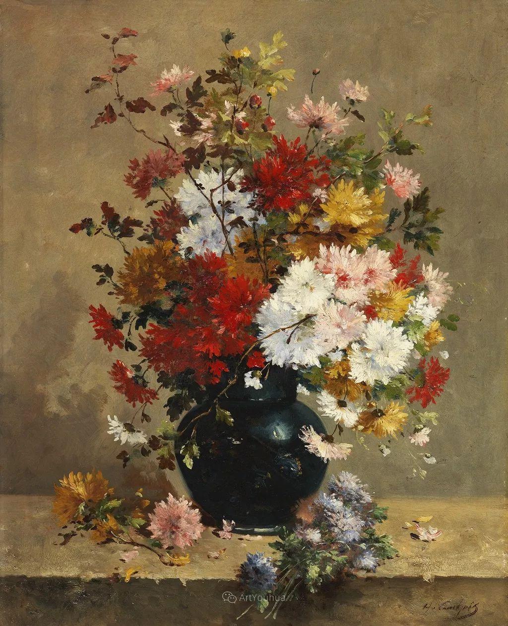 花卉的绽放之美,法国艺术家Eugene Henri Cauchois插图29