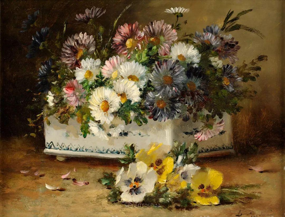 花卉的绽放之美,法国艺术家Eugene Henri Cauchois插图31