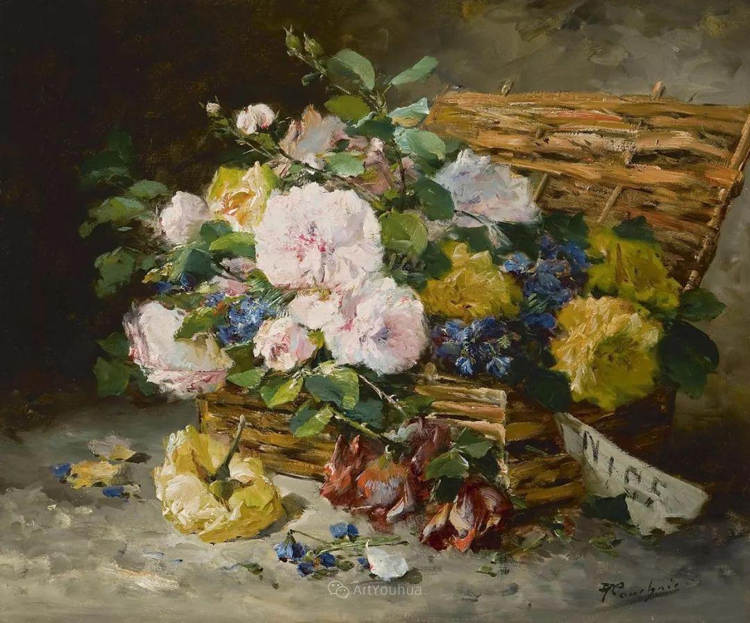 花卉的绽放之美,法国艺术家Eugene Henri Cauchois插图37