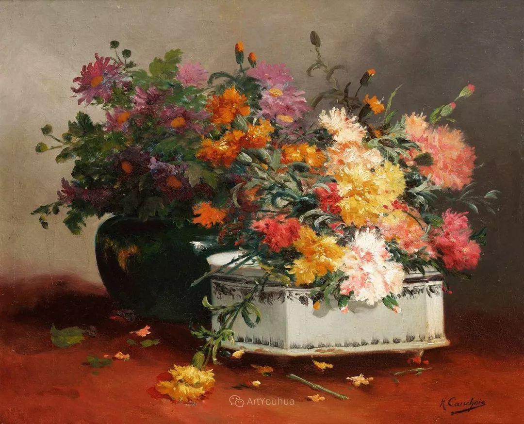 花卉的绽放之美,法国艺术家Eugene Henri Cauchois插图39