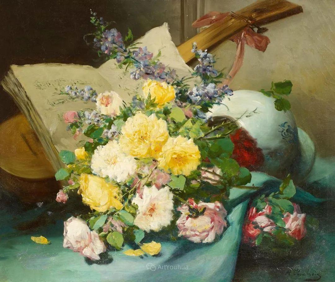 花卉的绽放之美,法国艺术家Eugene Henri Cauchois插图41