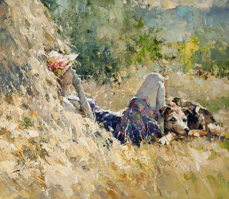 揉进阳光的笔触与色彩的完美碰撞,俄罗斯画家Alexi Zaitsev插图1