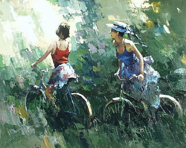 揉进阳光的笔触与色彩的完美碰撞,俄罗斯画家Alexi Zaitsev插图6