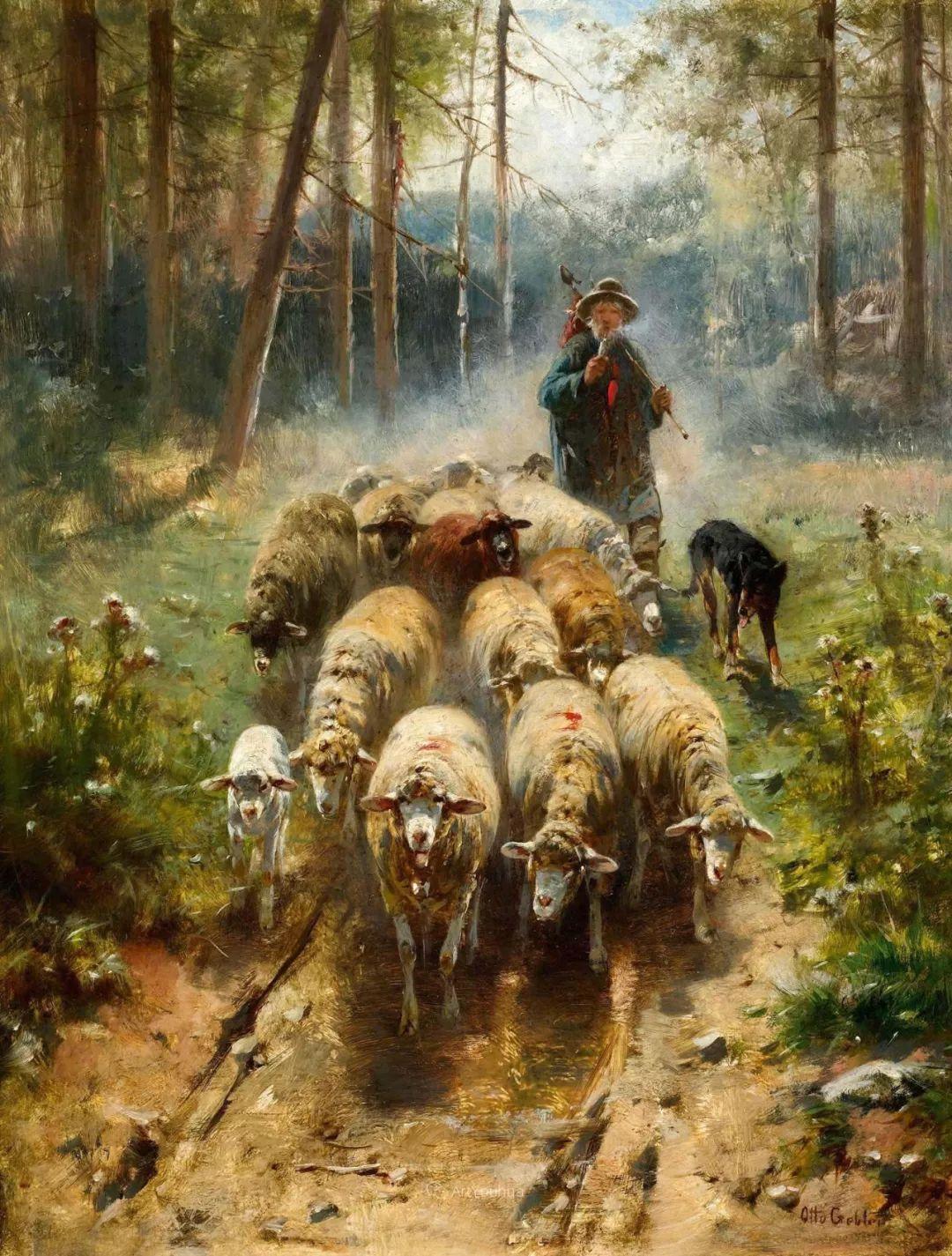 这些绵羊很惹人爱,德国艺术家Friedrich Otto Gebler插图3