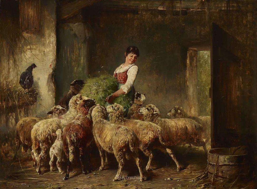 这些绵羊很惹人爱,德国艺术家Friedrich Otto Gebler插图5