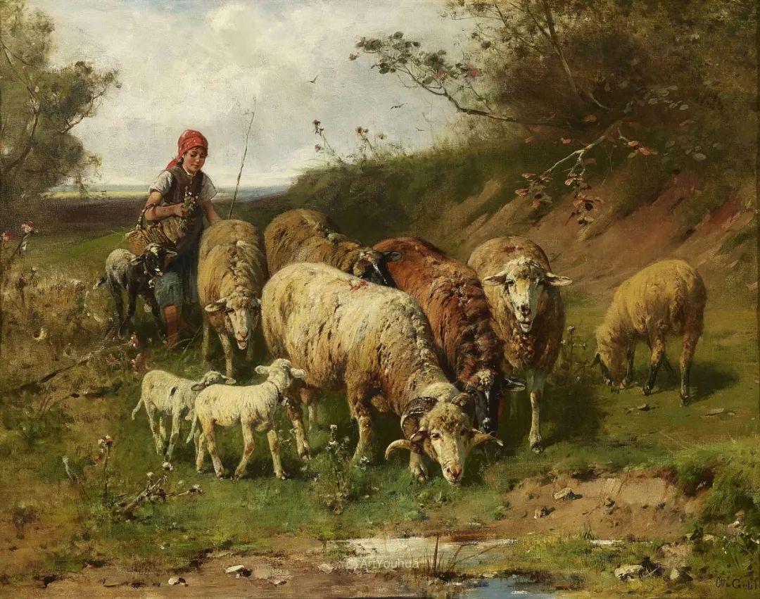 这些绵羊很惹人爱,德国艺术家Friedrich Otto Gebler插图9