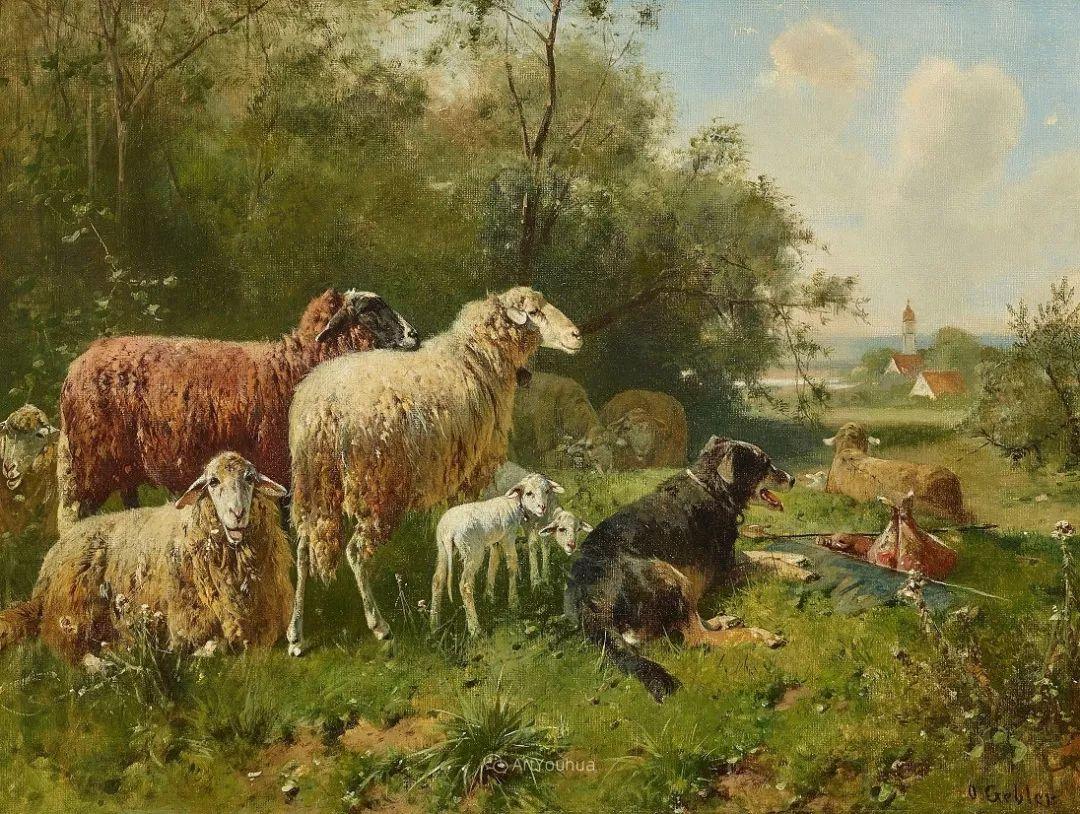 这些绵羊很惹人爱,德国艺术家Friedrich Otto Gebler插图12