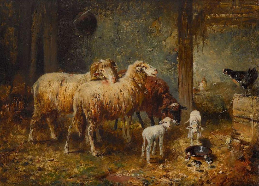 这些绵羊很惹人爱,德国艺术家Friedrich Otto Gebler插图7