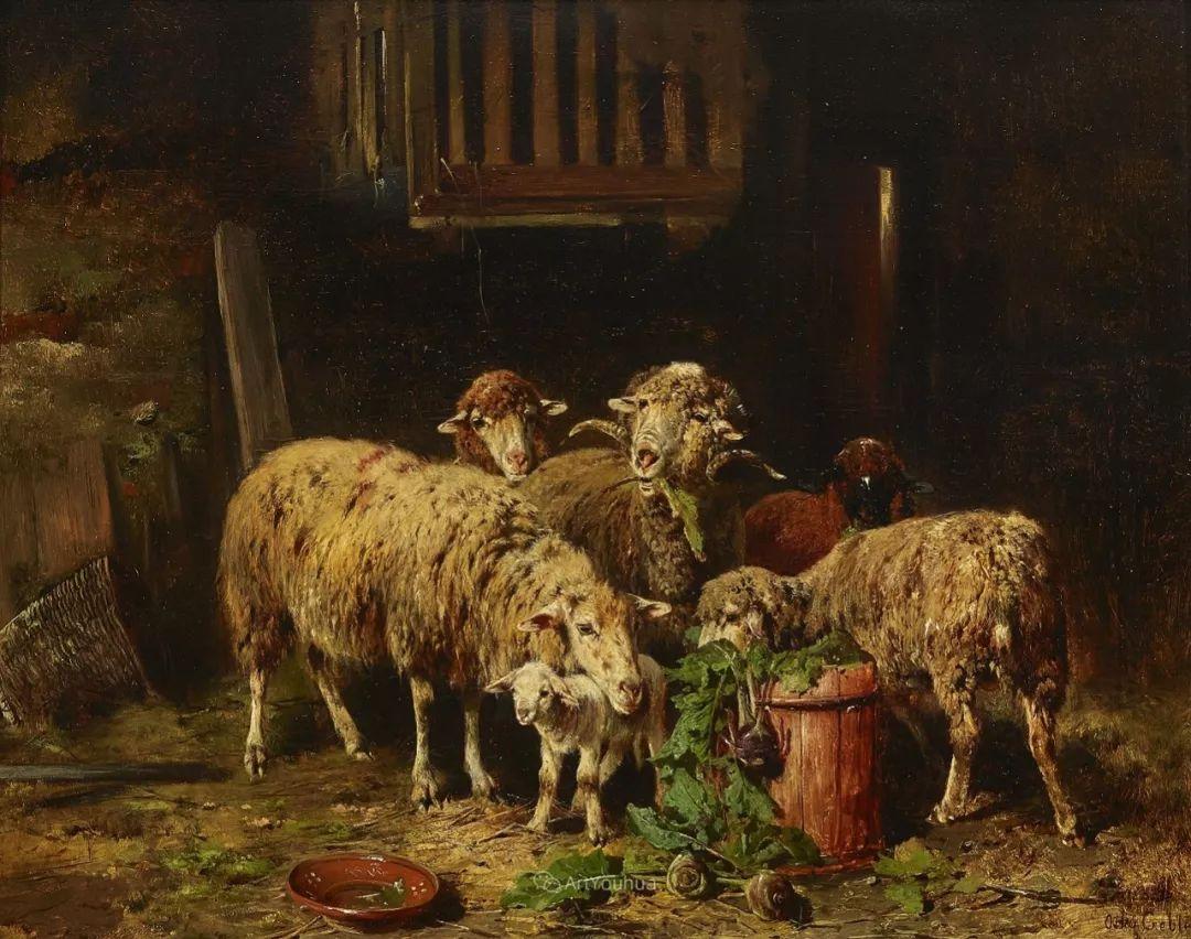这些绵羊很惹人爱,德国艺术家Friedrich Otto Gebler插图8